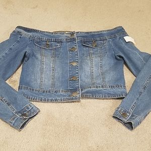 American Bazi jean jacket. NWT